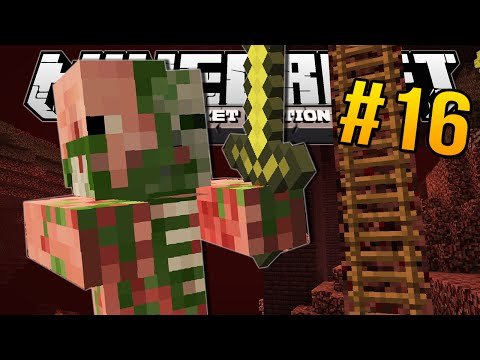 Minecraft Pocket Edition | NETHER LADDER!! | #16
