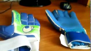 Видео обзор вратарских перчаток UHLSPORT FANGMASCHINE SOFT BLUE Unboxing(, 2015-07-28T18:36:40.000Z)