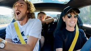 Stefanos Tsitsipas Reacts To My Supercar FLAT OUT !!