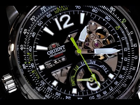 Orient CFT00004B Racing Rally Collection Review : Power Reserve and Skeleton Dial