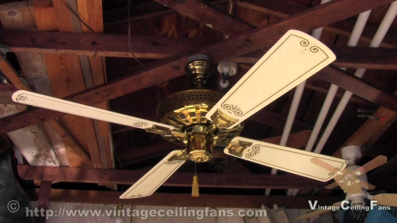 Nutone Verandah Deluxe Ceiling Fan Model Pfd 52 Brass