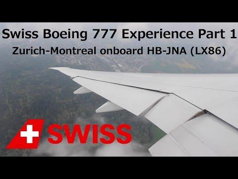 Swiss Boeing 777 Flight Report: Zurich-Montreal (LX86) Part 1