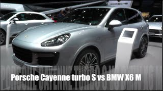 Porsche Cayenne turbo S 2015 vs BMW X6 M 2015