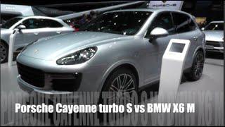 Porsche Cayenne turbo S 2015 vs BMW X6 M 2015