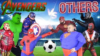 Superheroes Play Football With Superpowers