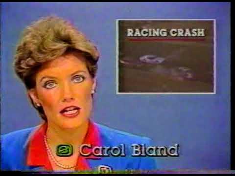 Ron Roach Wreck - Stockton 99 Speedway June 30, 1984