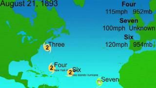 1893 Atlantic Hurricane Season Animation