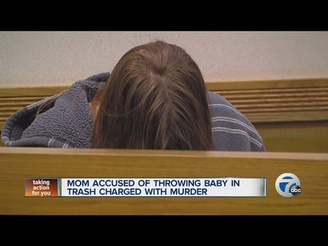 Mom accused of throwing baby in trash charged with murder