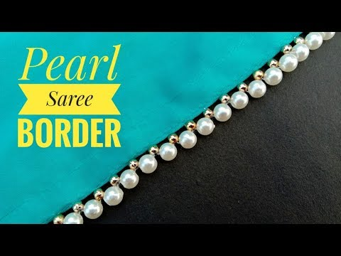 Hand made border// for saree// easy to make// border making// useful & easy