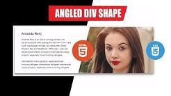 Html 5 + css 3 Angled div shape - Amazing tutorial | website design
