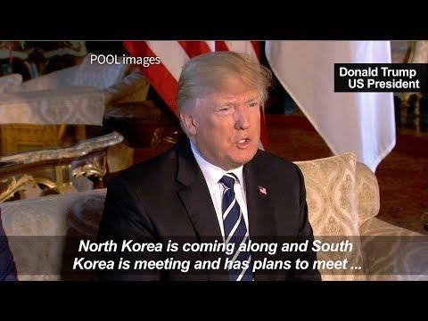 """Trump gives """"blessing"""" to Korea peace treaty talks"""