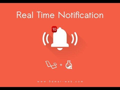 Laravel 5.4 realtime notification system lesson 4