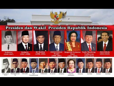 Daftar Nama Presiden dan Wakil Presiden Indonesia (1945 - 2015)