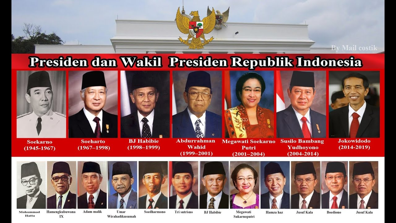 FOTO -FOTO PRESIDEN & WAKIL PRESIDEN INDONESIA PERTAMA 75