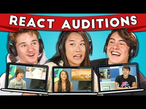 TEENS REACT TO THEIR AUDITION FOR TEENS REACT