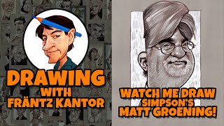 Watch me Draw Simpsons creator Matt Groening