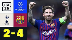 Lionel Messi mit Doppelpack bei Torspektakel: Tottenham - Barcelona 2:4 | UEFA CL | DAZN HL