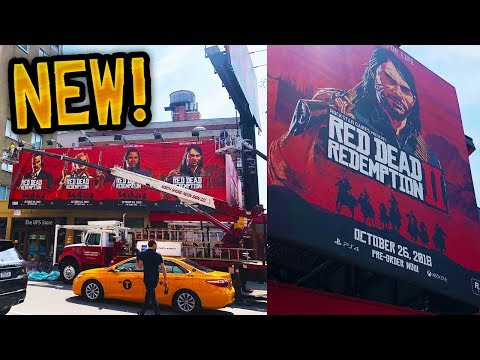 Red Dead Redemption 2 - INCREDIBLE RDR2 ARTWORK BY ROCKSTAR IN NYC! LATEST RDR2 NEWS & INFO! (RDR2)