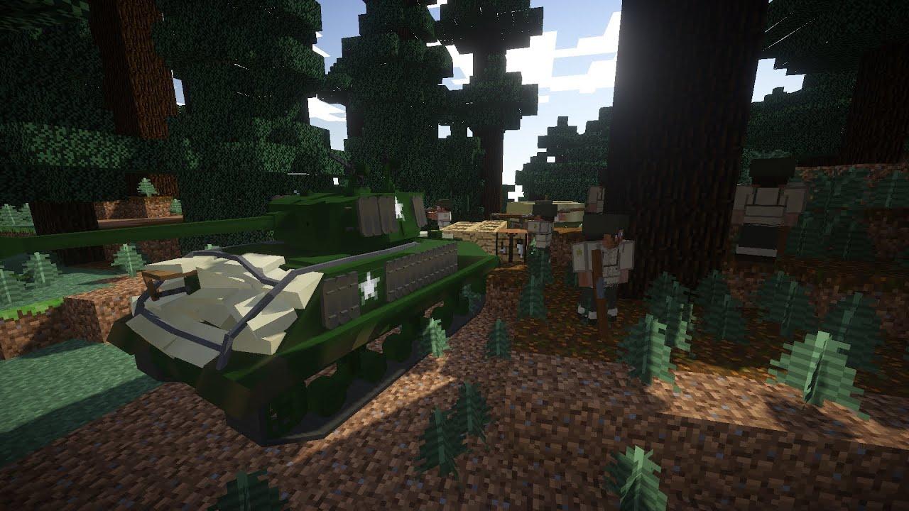 Minecraft Airfield Assault ( Flans mod+ Custom NPC