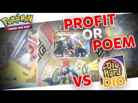 PROFIT OR POEM - KAPU RIKI TIN BATTLE vs. DioHard! Pokemon Booster Opening