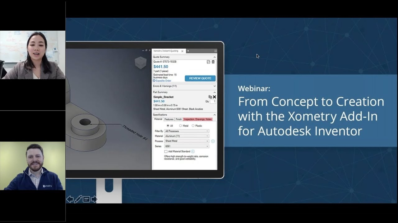 From Concept to Creation with the Xometry Add-In for Inventor