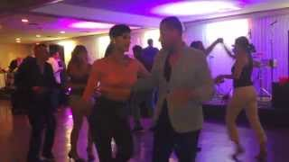 Bill Rojas & Emily Alabi Salsa Dancing At Stevens Steak House 2014