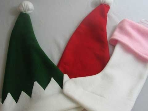 Holiday How To Make A Santa Hat Elf Hat And Stockings