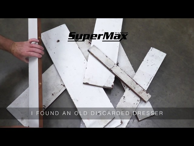 Upcycling Furniture with LAGUNA Machines   Using a LAGUNA Tablesaw and SuperMax 19-38 Drum Sander