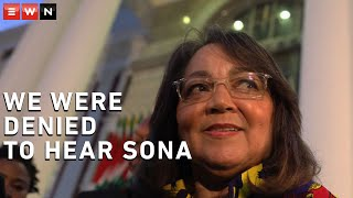 Good leader Patricia de Lille said the suspension of the State of the Nation Address due to EFF disruptions denied the country from hearing the address by President Cyril Ramaphosa.
