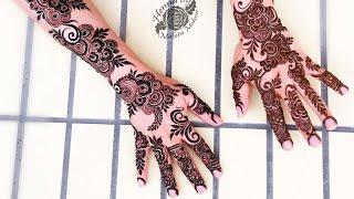 Simple Arabic henna mehndi design for hand | अरेबिक मेहंदी डिजाइन लगाने आसान तरीका |