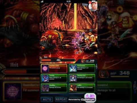 ( FFBE ) Final Fantasy Brave Exvius : 3 STAR Ifrit Fight! Randi's big move!
