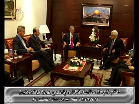 President Abbas Receives Quartet Special Middle East Peace Envoy Tony Blair