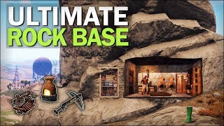 Starting the AMAZING ROCK BASE! - Rust Solo Survival