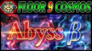 Abyss B Floor 9 Cosmos Full Clear ~ DFFOO Global