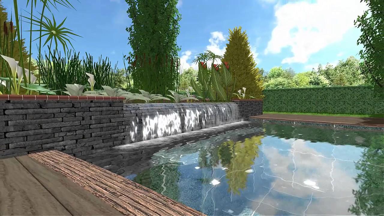 piscina naturalizada en 3d - youtube