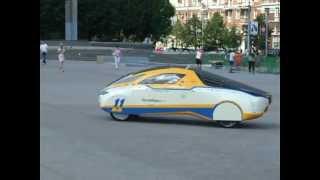 Немецкий солнцемобиль в Донецке