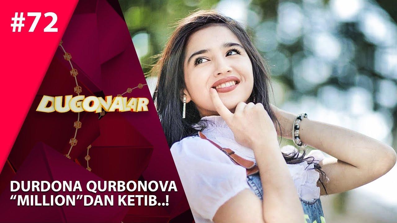 Dugonalar Shou 72-son Durdona Qurbonova Milliondan ketib..! (21.07.2019)