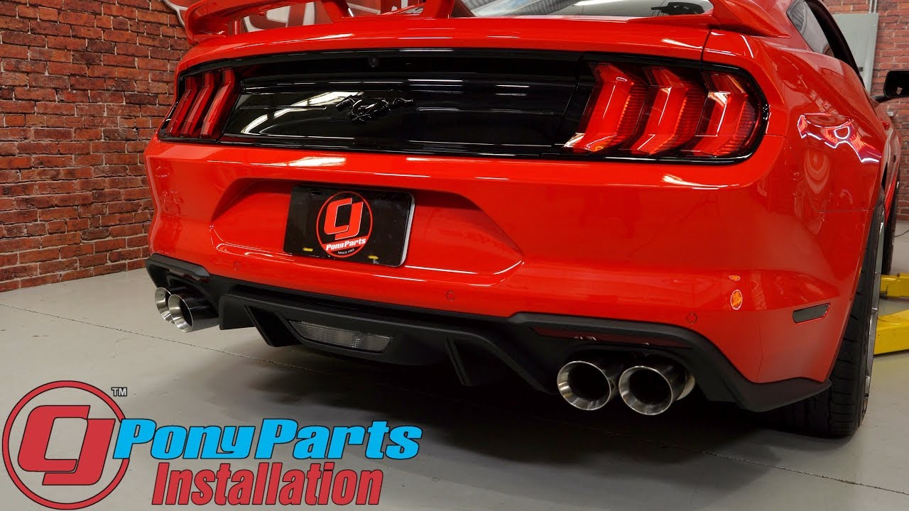 2018 2019 mustang gt magnaflow cat back quad tip competition 3 w o active exhaust fastback install