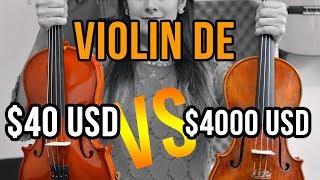 Violín de 40 USD vs Violín de 4000 USD ¿Cuál es mejor?