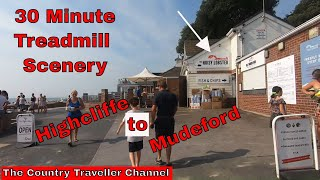 30 min Treadmill Summer Scenery - Highcliffe to Mudeford along the shoreline