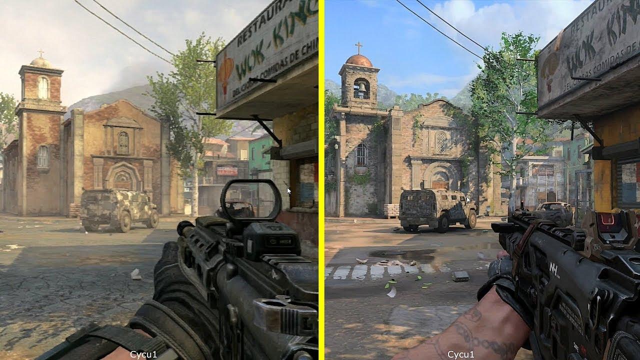 Call of Duty Black Ops 4 vs Black Ops 2 - Slums Map