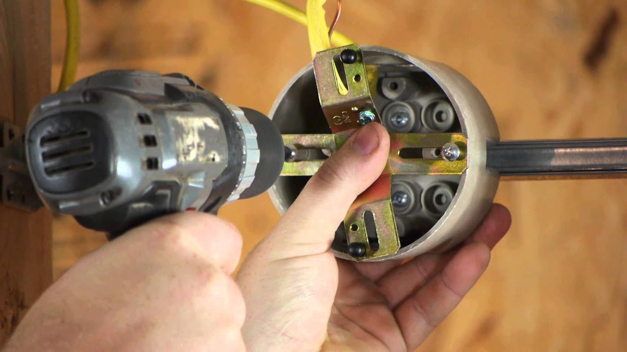 How to install a light fixture with a ground wire when the outlet how to install a light fixture with a ground wire when the outlet box does diy electrical work youtube arubaitofo Images