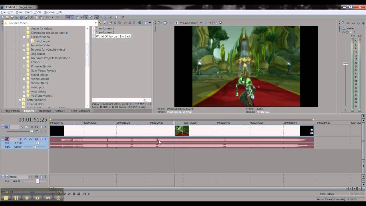 Sony Vegas How to split & Regroup Audio from Video.wmv - YouTube