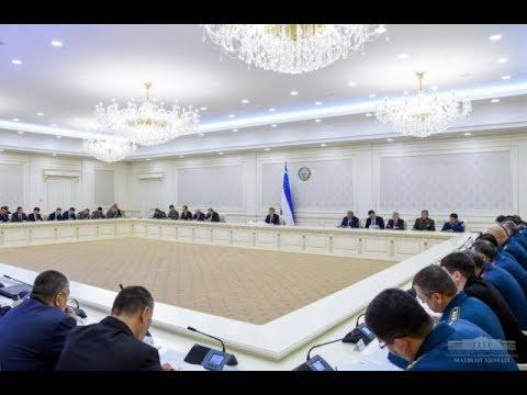 Prezidenti Shavkat Mirziyoyev 2019-yil 10-yanvar videoselektor yigʻilishi oʻtkazdi