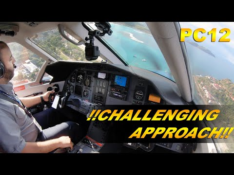 CHALLENGING LANDING? - Reverse Ops In ST BARTHS. (ATC AUDIO) PC12