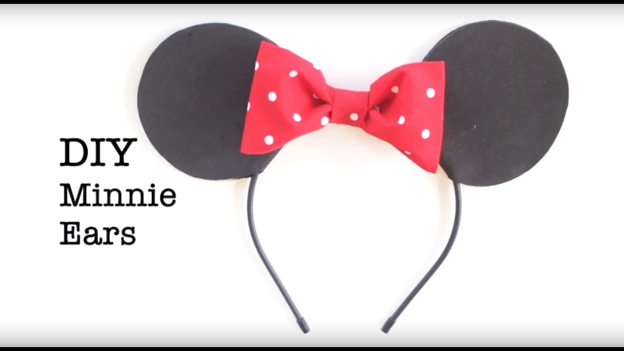 Diy Easy No Sew Mickey And Minnie Ears Youtube