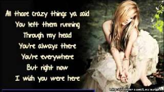 ... link http://tinyurl.com/3n2oxod avril lavigne, wish you were here, instrumental, beat, karaoke, pi...