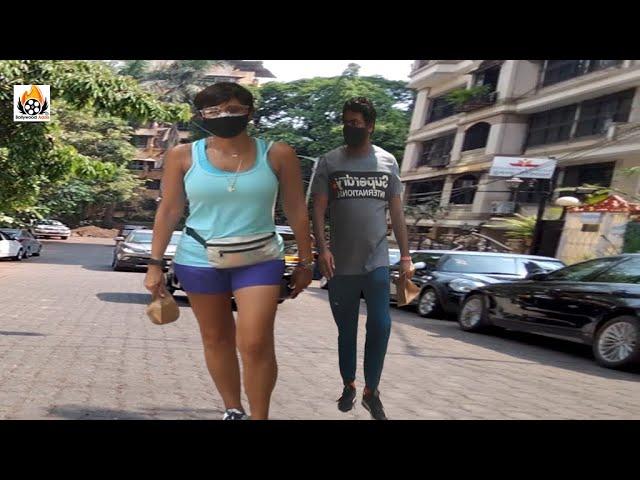 Exclusive Mandira Bedi Snapped Morning Walk In Bandra