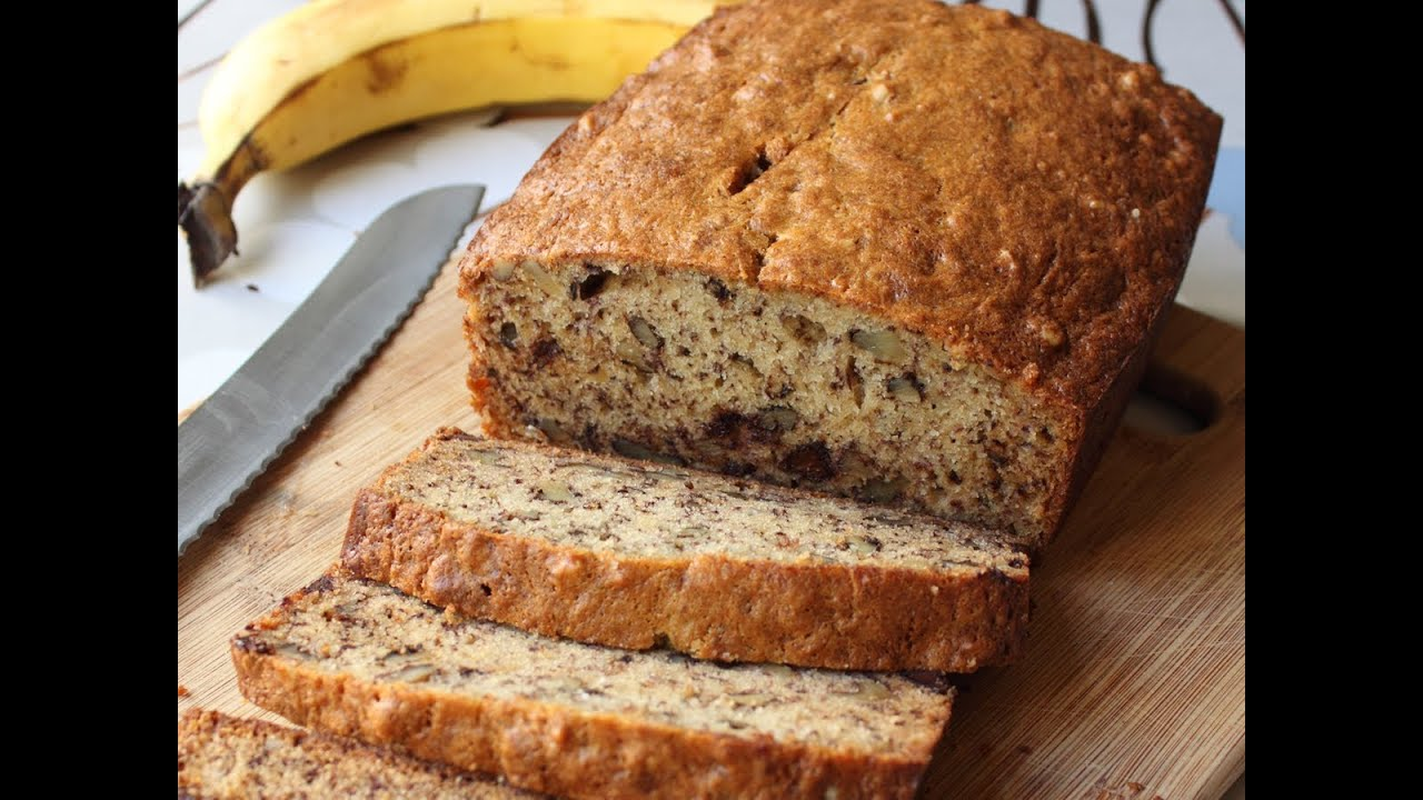 Banana bread recipe chocolate banana nut loaf youtube forumfinder Gallery