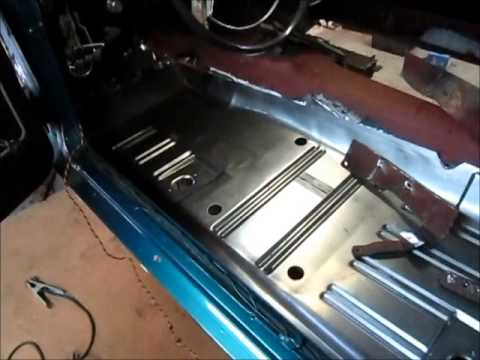1968 Mustang Driver S Side Floor Pan Quot Jade Quot Part 6 Youtube